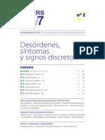 Desórdenes, síntomas y signos discretos - PAPERS-7.7.7.-N°2-Español