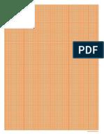 Es Papel Milimetrado Naranja