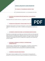 Funciones Que Ejerce El Arquitecto Como Promotor