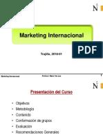 UPN MI 2018-01 Sesion 01-A Introducción Al Marketing Internacional