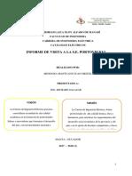 Informe de visita tecnica a la Subestacion Portoviejo 1