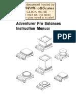 Adventurer Pro Manual