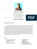 Updated Resume Virtual Assistant