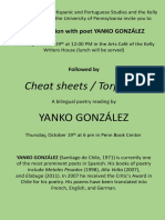 Conversation and Reading con Yanko González