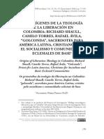 Los Orígenes de La Teología de la Liberación en Colombia