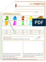 Worksheets Clothes