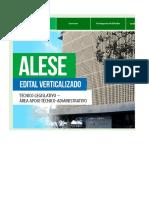 Edital Verticalizado - ALESE - Técnico_Legislativo