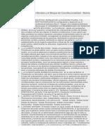 Los Principios Ético Morales y El Bloque de Constitucionalidad
