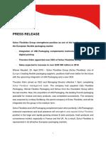 Schur Flexibles Group Press release 04.2018