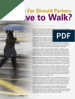 How Far Should Parkers Walk