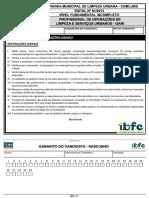 Ibfc 2014 Comlurb Profissional de Operacoes de Limpeza e Servicos Urbanos Gari Prova