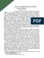 HEBERLE, 'the Sociology of Ferdinand Tönnies'