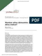 Herta Wolf Montrer Et_ou Démontrer. Index Et_ou Indice