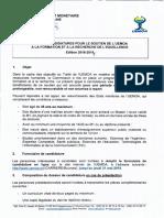 Appel a Candidature Pour Le Soutien de L-uemoa Edi 2018-2019 0