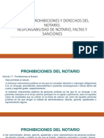 Deberes y Prohibiciones Del Notario