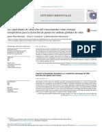 Las capacidades de absorción del conocimiento como ventajas competitivas para la inserción de pymes en cadenas globales de valor