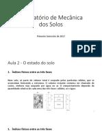 Mecanica Dos Solos - Índices