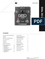 Tc Ditto x2 Looper Manual Spanish