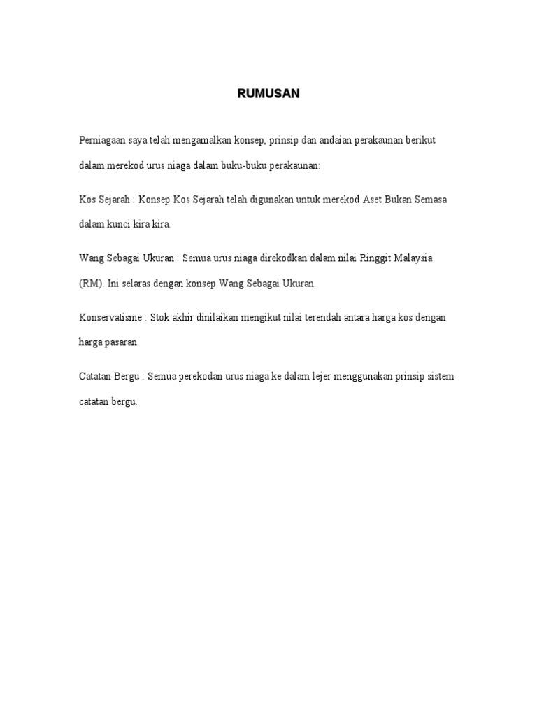 Contoh Rumusan Folio Akaun Jawat Koso