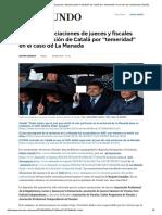 Todas Las Asociaciones de Jueces y Fiscales Piden La Dimisión de Catalá