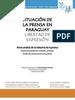 Análisis de la situación de la situación laboral de periodistas y de la prensa de Paraguay