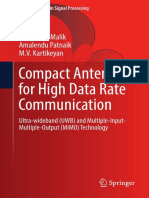 Kartikeyan, Machavaram, Malik, Jagannath, Patnaik, Amalendu-Compact Antennas for High Data Rate Communication Ultra-wideband Uwb and Multiple-Input-multiple-output Mimo Technology.-springer Verlag (20
