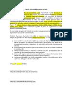 Formato Carta de Nombramiento SCTR Salud