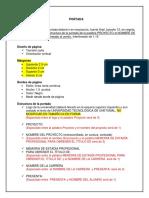 Estructura de La Memoria Empresarial Universidades Tecnológicas