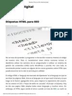 Etiquetas HTML Para SEO _ Marketing Digital