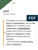 Dez – Wikipédia, A Enciclopédia Livre