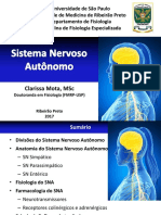 Aula Sistema Nervoso Autônomo - Profa Clarissa