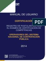 Manual de Usuario Certificación 3