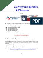 Vet State Benefits & Discounts - TX 2018