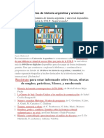 20 Libros Gratuitos de Historia Argentina y Universal