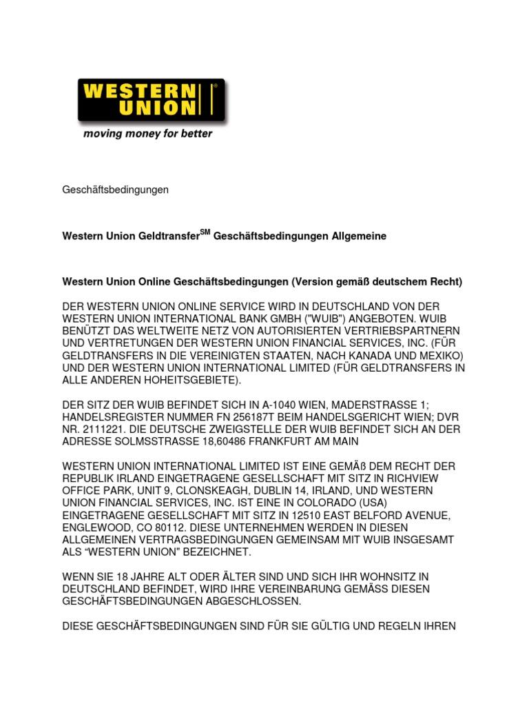 Erfreut Western Union überweisung Betrug Galerie - Schaltplan Serie ...