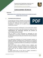Especificaciones Técnicas - i Etapa