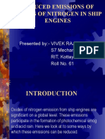 Reduced Emissions of Oxides of Nitrogen in Ship Engines