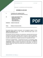 Informe Nº 01 Obras Hidraulicas