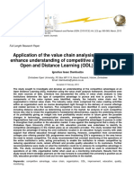 Application of the Value Chain Analysis Framework to Enhance Understanding of Competitive Advantage at an Open and Distance Learning Odl Institution
