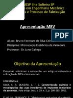 Apresentação MEV