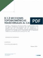 II.1.3 Secciones Topobatimetricas Transversales Al Cauce