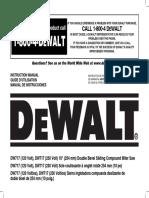 Dewalt 717 Miter Saw Owner's Manual