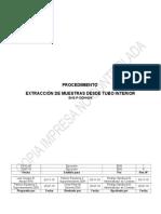 EHS-P-DDH 004 Procedimiento Extracción de Muestra desde Tubo Interior-Rev 01