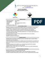 Acido Sulfurico Al 98% Hojas de Seguridad