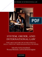 (the History and Theory of International Law) Stefan Kadelbach, Thomas Kleinlein, David Roth-Isigkeit-System, Order, And International Law_ the Early History of International Legal Thought From Machia