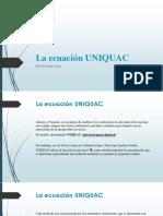 La Ecuación UNIQUAC-rfr