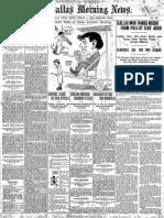 Dallas Morning News March 4 1910
