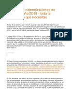 Baremo de Indemnizaciones de Tráfico Del Año 2018