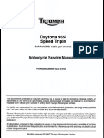 Triumph Daytona 955i and Speed Triple 955cc '02 Service Manual