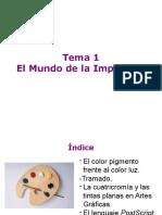 conceptos de impresión y color